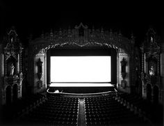 Akron Civic Theatre, Akron, Ohio, by Hiroshi Sugimoto Japanese Photography, Still Photography, Photography Projects, Fine Art Photography, White Photography, Slow Shutter Speed Photography, Hiroshi Sugimoto, Civic Theatre, Pictures Of The Week