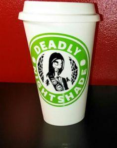 16 oz Nightshade Coffee Mug Thermal PLASTIC by UntamedCustomGifts