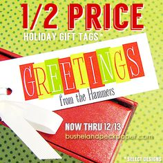 Bushel & Peck Paper: Half Price for the Holidays