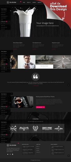 Elision - Retina Multi-Purpose WordPress Theme animations, art, background video, blog, business, clean, creative, fullscreen, localization, mega menu, multi-purpose, parallax, portfolio, responsive, retina ELISION is a retina multi-purpose WordPress theme Main Features Qode Slider – Amazing responsive full-screen or fixed height image & video slider with parallax and fade in/out elements animations. A...