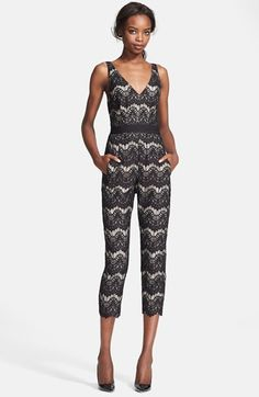 Tracy Reese Lace Crop Jumpsuit available at #Nordstrom