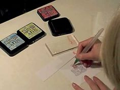 This was a really nice video that showed how to color with Distress Inks