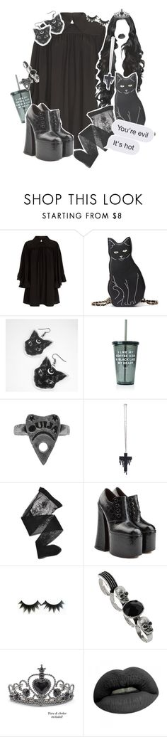 """""""Lazy Gotich Witch//You're so EVIL 🕸🌚"""" by drunk-inlove ❤ liked on Polyvore featuring McQ by Alexander McQueen, Jac Vanek, Emporio Armani, Marc Jacobs and TIARA"""