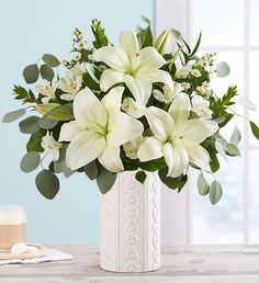Shop winter flowers & plant gifts from to brighten even the coldest winter day. Send a winter bouquet delivery for the perfect winter gift! Bouquet Delivery, Flower Delivery, 800 Flowers, Asiatic Lilies, Winter Flowers, Local Florist, White Vases, Planting Flowers, Floral Arrangements