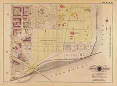 City of Washington Property Values Map From 1880