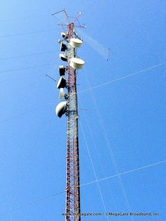 one of the MegaGate wireless towers.