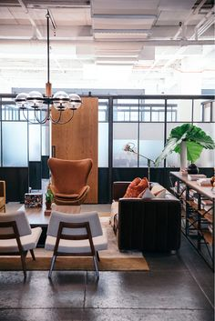 Sick of the office? The NeueHouse founder and co-CEO offers a more stylish alternative Office Lounge, Office Workstations, Common Room, Office Essentials, Waiting Area, Small Studio, Hotel Lobby, Room Decor, Heritage Bank