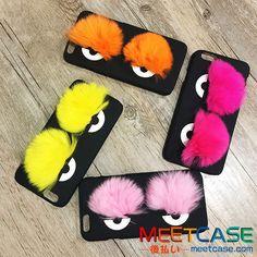 可愛い フェンディ iphone6s プラスケース FENDI アイフォン6s 6保護カバー モンスターの目 キュート 女性おすすめ