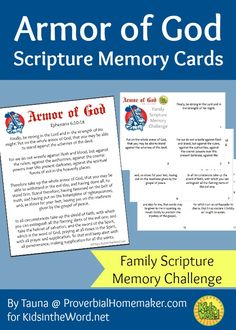 Armor of God Scripture Memory Cards - Family Scripture Memory Challenge