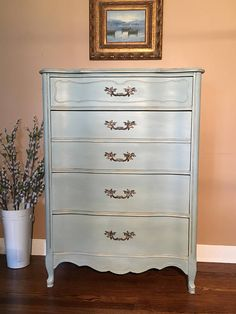 Vintage French Provincial Dresser Chalk Painted