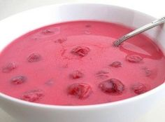 hungarian-food-hideg-meggyleves    Chilled sour cherry soup.  It is seriously good.  Christmas....