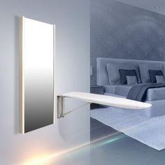 Aynalı Ütü Masası/Dikdörtgen/Parlak Beyaz