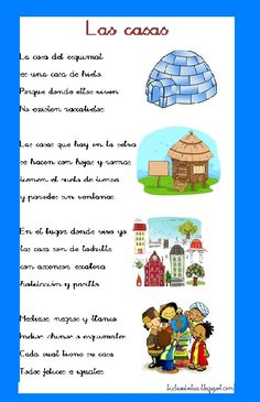 La clase de Sandra : Poesia sobre la casa Spanish Songs, Spanish Lessons, Dual Language, Spanish Language, Tama, African Animals, Creative Activities, Sight Words, Third Grade