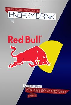 Red Bull refresh packaging by Oscar Matamoros, via Behance