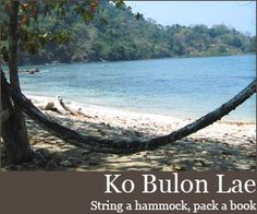 Would the sea do not change ,if Pakbara will be port and industrial park ? #Ko Bulon Lae, Thailand