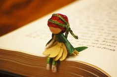 Waldorf Fairy Doll  miniature fairy doll by FifteenMagpieLane, $12.00