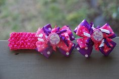 Big Sister Little Sister Hair Bow Set by BOWsweetBOW on Etsy, $11.98
