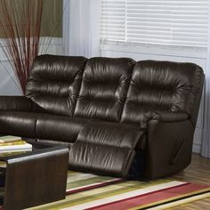 Palliser Furniture Fiesta Reclining Sofa Upholstery: Leather/PVC Match - Tulsa II Chalk, Leather Type: All Leather Protected, Type: Manual