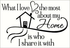 Wall Decor Plus More - What I Love Most About My Home Quotes Wall Letters Vinyl Decal, $19.97 (http://www.walldecorplusmore.com/what-i-love-most-about-my-home-quotes-wall-letters-vinyl-decal/)