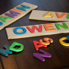 Personalized Name Puzzle and over 7,500 other quality toys at Fat Brain Toys. Personalized Name Puzzle! A custom name puzzle just for your child! Unusual names & spellings -no problem! Encourage logic, fine motor skills, name recognition & spelling, self esteem. High quality craftsmanship for a beautiful product that'll last and last!