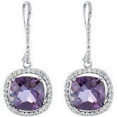 Amethyst & Diamond Dangle Earrings