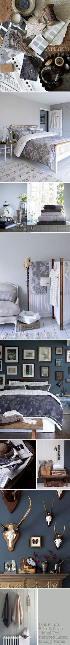 Christy-Artisan | Styling by Marie Nichols Greys whites navy nudes and natural materials, antlers