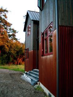 So rustic---Corten (weathering) steel metal siding homes pictures ...