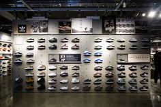 "Inside adidas's Newest ""Stadium"" Retail Flagship Store in NYC Shoe Store Design, Retail Store Design, Retail Shop, Shoe Shop, Shoe Wall, Shoe Display, Store Interiors, Retail Interior, Ideas"