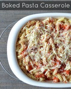 This baked pasta casserole is a delicious, flavorful, FRUGAL dinner recipe. Just $.74 per serving!