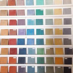 Contemplating colors #pophamdesign #factory #marrakech #palette #cement #concretetiles