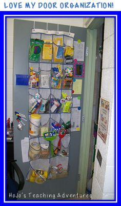 Door Organization! {great if you're getting rid of your desk!}