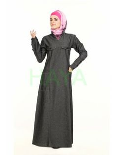 Traditional Muslim dress for women, Designer Islamic clothing for women, Women clothing in Islam Denim Abaya, Muslim Dress, Islamic Clothing, Vogue Fashion, Clothes For Women, Stylish, How To Wear, Beautiful, Dresses