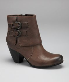 Take a look at this New Gray Trapise Ankle Boot by b.o.c on #zulily today!