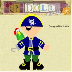 Sheila's Pirate Paper Doll Cutting File in GSD KNK SVG and Now WPC format