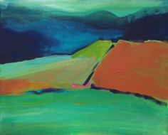 Original landscape acrylic painting on canvas by holidayartist