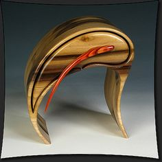 Eccentric Wood, Wood Box, Elegant Anorexics Series | Part of our American Craft Council - Baltimore Preview!