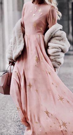 Blush stardust maxi dress