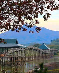 Tsuru no Mai Bridge, Aomori, Japan, 鶴の舞橋, 青森, 日本, 津軽富士見湖