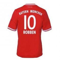 13-14 Bayern Munich #10 Robben Home Soccer Jersey Shirt