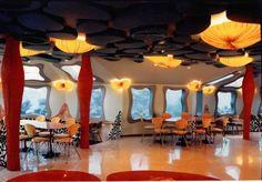 Underwater Restaurant in Red Sea Star, Eilat, Israel. It's 16' beneath the Red Sea.