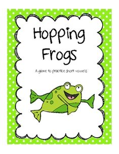 This game will give your students the chance to practice identifying and categorizing short vowel sounds.  The game comes with a pond themed game...