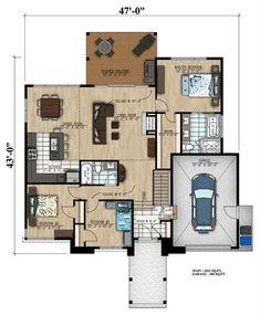 158-1303: Floor Plan Main Level