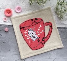 Personalised MUM Coaster - Tea Cup Coaster - Mug for Mum £6.50