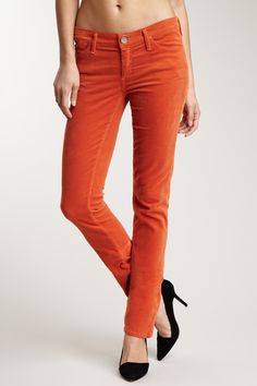 On my Black Friday wishlist: colored jeans/cords! Love the orange