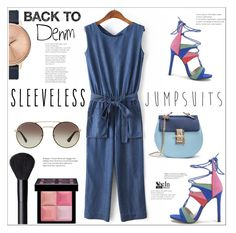 """All-in-one: Sleeveless Jumpsuit"" by mycherryblossom ❤ liked on Polyvore featuring Nixon, NARS Cosmetics, Givenchy, Prada, polyvoreeditorial, polyvorestyle, summer2016 and sleevelessjumpsuits"