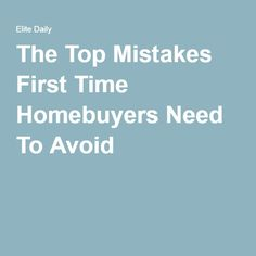 Buying your first home is definitely a great challenge and a big deal especially if you don't have any idea where to begin. To prevent huge mistakes and to know the process, check out this article with Tips for Success!