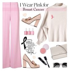"""""""Who Do You Wear Pink For?"""" by tamara-p ❤ liked on Polyvore featuring ADAM, Michael Kors, Ace, Essie, Gucci, Estée Lauder, Ted Baker, 100% Pure and breastcancerawareness"""