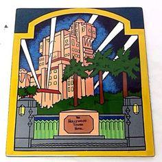 Rare-Walt-Disney-Disneyland-Promo-The-Hollywood-Tower-Hotel-Ceramic-Plaque