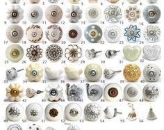 Vintage Ceramic Knobs Ornamental Door Knobs with by DesignInFocus