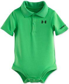 Under Armour Baby Boys' Short-Sleeve Green Polo-Style Bodysuit